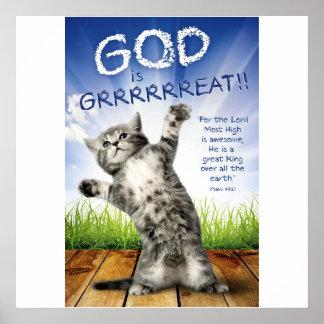GOD IS GRRRRREAT! - Christian Posters For Kids