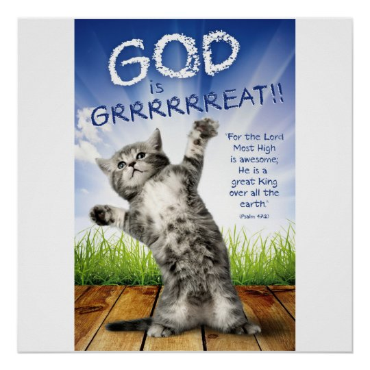 GOD IS GRRRRREAT! - Christian Posters For Kids