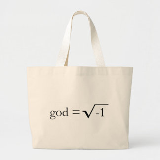 God is Imaginary Jumbo Tote Bag