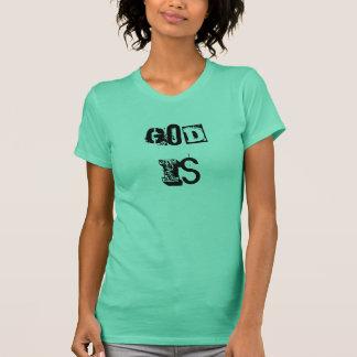 God Is - Laundry Mat Font T-Shirt