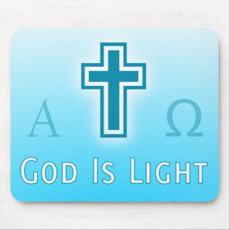 God Is Light custom catholic / christian religious Mouse Mat