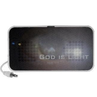 God is light. laptop speaker