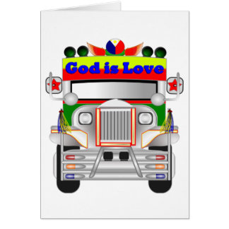 God Is Love Car Card