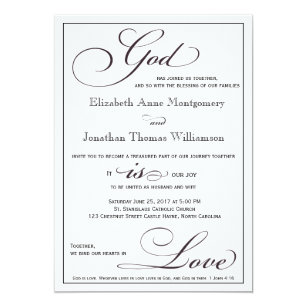 العلامة Christian Marriage Invitation Card Matter In