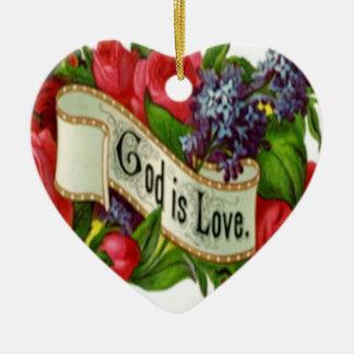 God is Love Christmas Ornament