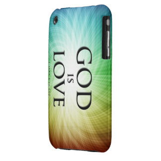 God is Love - iPhone 3G/3GS case iPhone 3 Cases