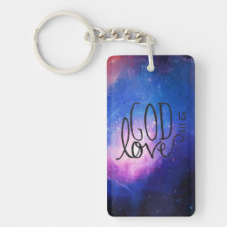 God Is Love Keychain