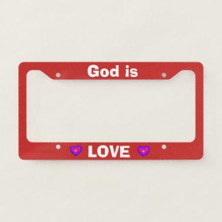 God is Love Licence Plate Frame