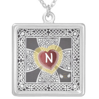 God Is Love Neckace Charm-Customize Square Pendant Necklace