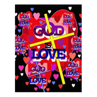 God is Love. Postcard