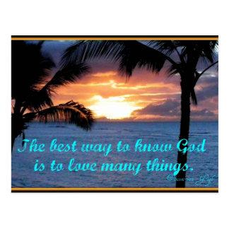 God is Love Postcard