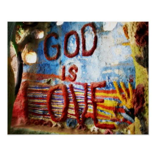 God is Love Poster