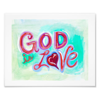 GOD is LOVE POSTER Photo Print