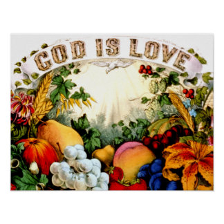 God is Love Poster PRINT