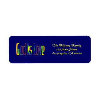 God Is Love Return Address Label