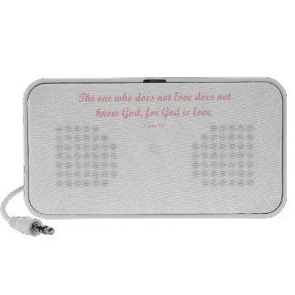 God is Love iPod Speaker