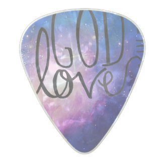 God is Love Worship Guitar Pick Pearl Celluloid Guitar Pick