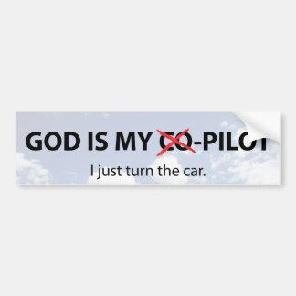 God is my -C-o-Pilot Bumper Sticker