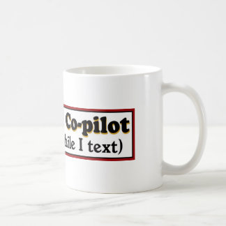 God is my co-pilot mug