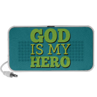 God is my hero iPod speaker