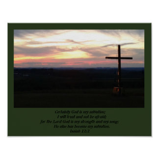 God is my Salvation Poster