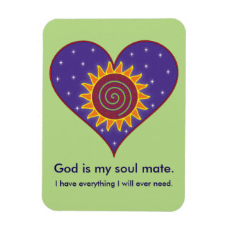 God Is My Soul Mate Rectangular Photo Magnet