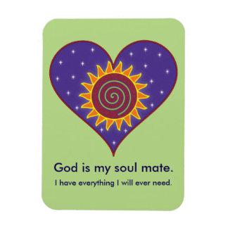 God Is My Soul Mate Rectangular Photo Magnet