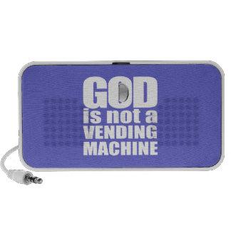 GOD is not a VENDING MACHINE Portable Speaker
