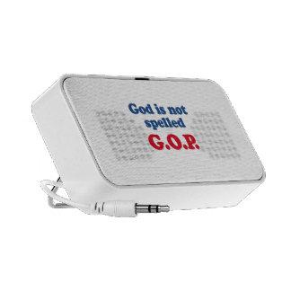 God is not spelled GOP Mini Speaker