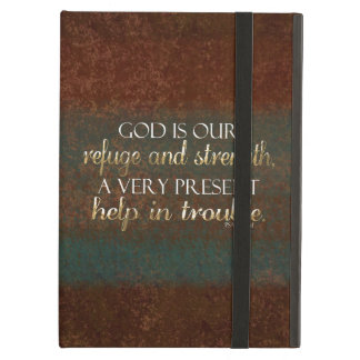 God is our Refuge Christian Bible Verse Brown/Gold iPad Air Cases