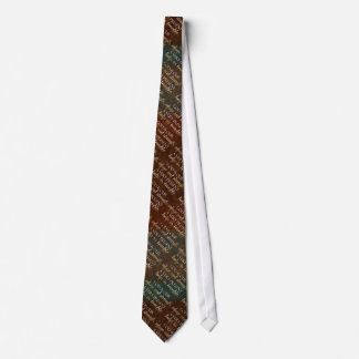 God is our Refuge Christian Bible Verse Brown/Gold Tie