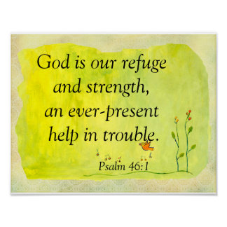 God is our refuge poster