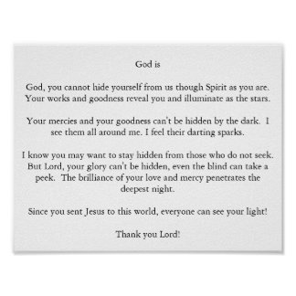 God is poster