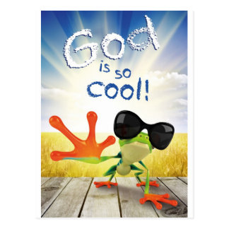GOD IS SO COOL - Christian, religious, faith Postcard