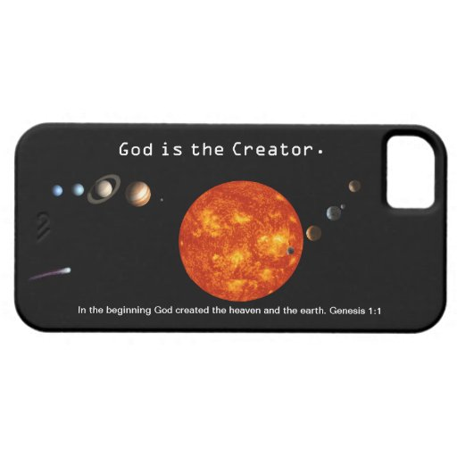 God Is The Creator Solar System - Customizable iPh iPhone 5/5S Cover