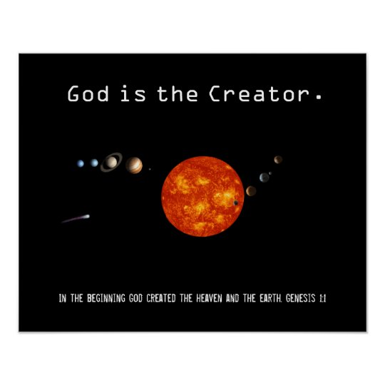 God Is The Creator Solar System - Poster