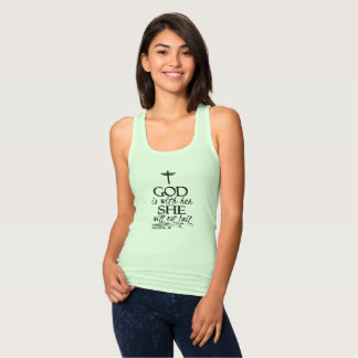 God Is With Her Christian Mother's Day Tank Top