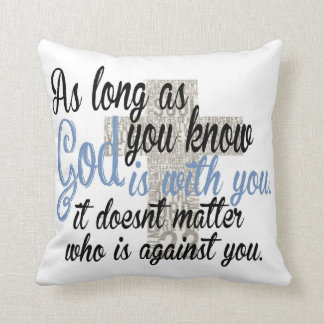 God is with you cushion