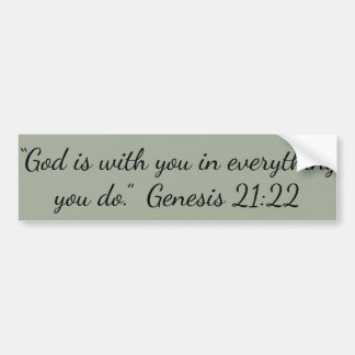 """God is with You"" Motivational Bumper Sticker"