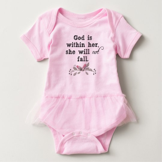 God is within her Bible Verse Baby Bodysuit