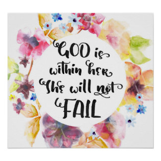 God is Within Her She Will Not Fail Art Print