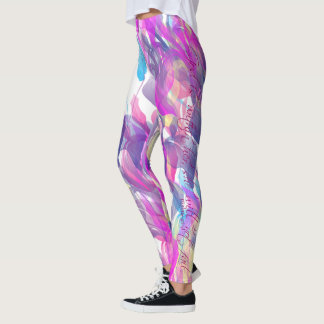 """God is within her, she will not fail"" leggings"