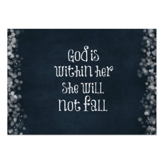 God is Within Her, She Will Not Fall Bible Verse Pack Of Chubby Business Cards