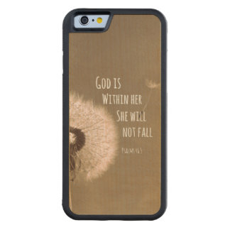 God is Within Her, She Will Not Fall Bible Verse Carved® Maple iPhone 6 Bumper