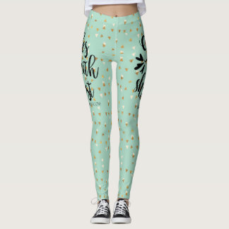 God is Within Her She will not Fall ~ Psalm 46:5 Leggings