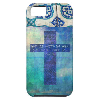 God is within her uplifting Bible verse Psalm 46:5 Cover For iPhone 5/5S