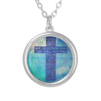 God is within her uplifting Bible verse Psalm 46:5 Personalized Necklace