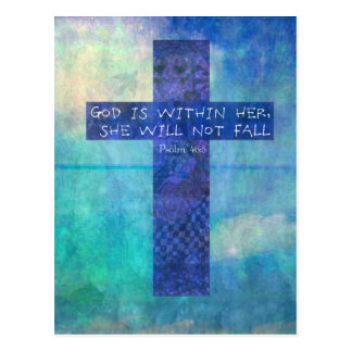 God is within her uplifting Bible verse Psalm 46:5 Postcard
