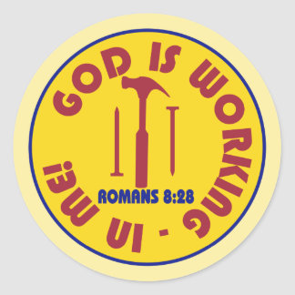 God is Working in Me Stickers
