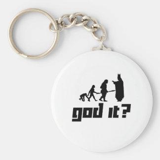 God it? basic round button key ring
